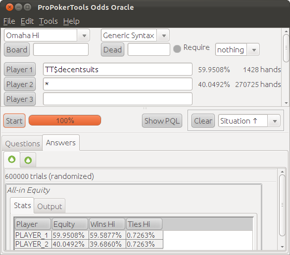 Poker pro tools odds oracle